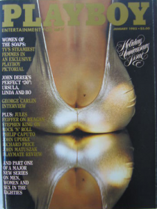 Playboy cover, Jan. 1982
